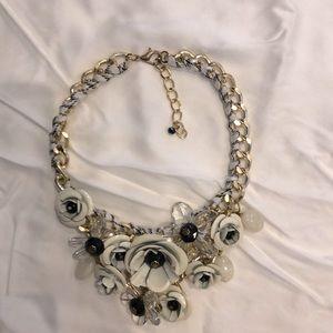 Chunky floral bib necklace